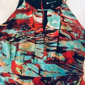 Bright maxi halter dress